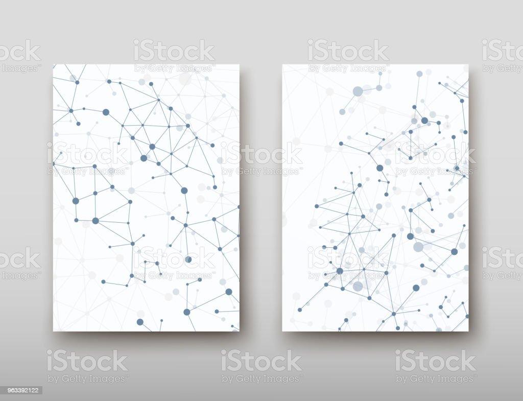 DNA abstrakcyjne geometryczne tło, układ w technologii A4 zestaw broszura broszura projekt szablonu wektorowego cienia - Grafika wektorowa royalty-free (Abstrakcja)