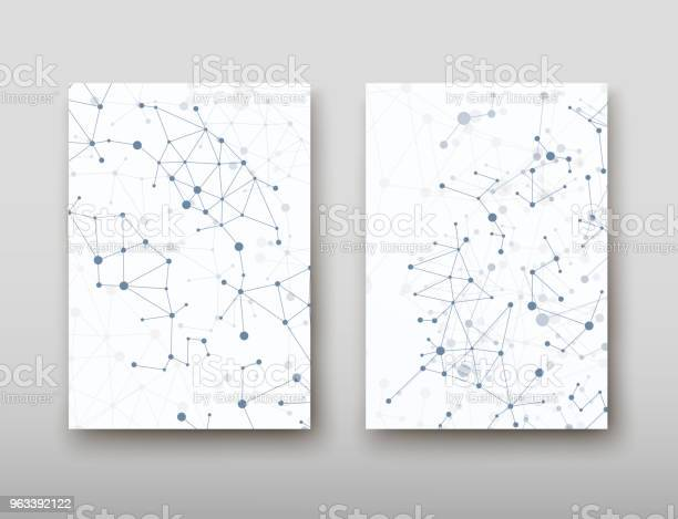 Dna Abstrakcyjne Geometryczne Tło Układ W Technologii A4 Zestaw Broszura Broszura Projekt Szablonu Wektorowego Cienia - Stockowe grafiki wektorowe i więcej obrazów Abstrakcja