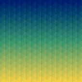 Modern and trendy abstract geometric background. Beautiful mosaic with triangular patterns and a color gradient. This illustration can be used for your design, with space for your text (colors used: Yellow, Green, Blue). Vector Illustration (EPS10, well layered and grouped), format (1:1). Easy to edit, manipulate, resize or colorize.