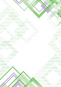 Abstract geometric background pattern -  template design - green - vector Illustration
