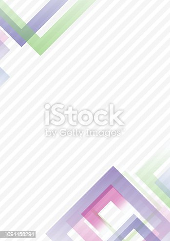 Abstract geometric background pattern -  template design - multi colored - vector Illustration