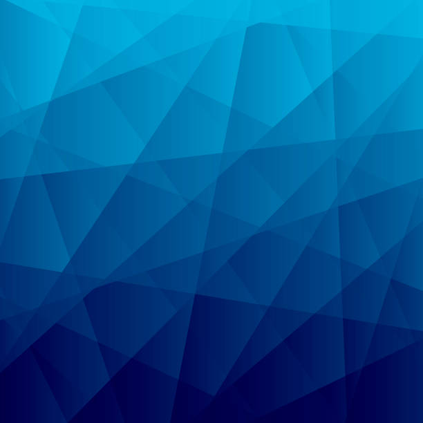 Abstract geometric background - Polygonal mosaic with Blue gradient vector art illustration