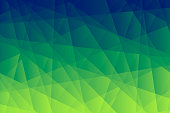 Modern and trendy abstract geometric background. Beautiful polygonal mosaic with a color gradient. This illustration can be used for your design, with space for your text (colors used: Yellow, Green, Blue). Vector Illustration (EPS10, well layered and grouped), wide format (3:2). Easy to edit, manipulate, resize or colorize.