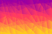 istock Abstract geometric background - Polygonal mosaic with Orange gradient 1179124913