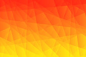 Modern and trendy abstract geometric background. Beautiful polygonal mosaic with a color gradient. This illustration can be used for your design, with space for your text (colors used: Yellow, Orange, Red). Vector Illustration (EPS10, well layered and grouped), wide format (3:2). Easy to edit, manipulate, resize or colorize.