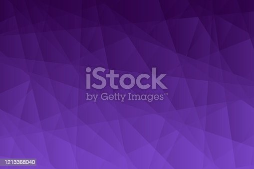 istock Abstract geometric background - Polygonal mosaic with Purple gradient 1213368040