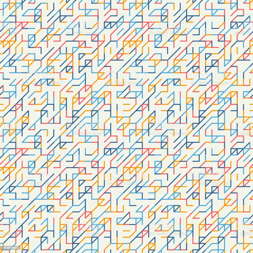 Abstract geometric background. Seamless pattern. vector art illustration