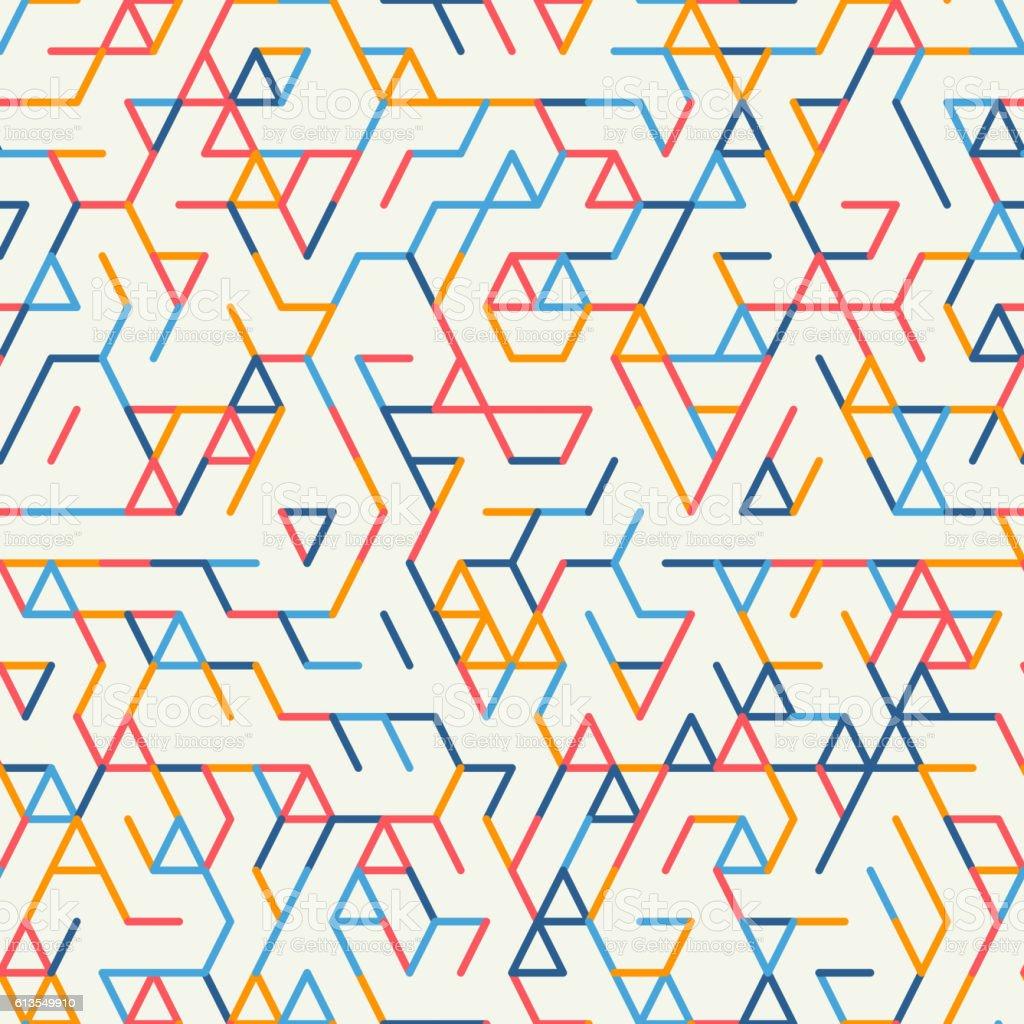 Abstract geometric background. Seamless pattern. vector art illustration
