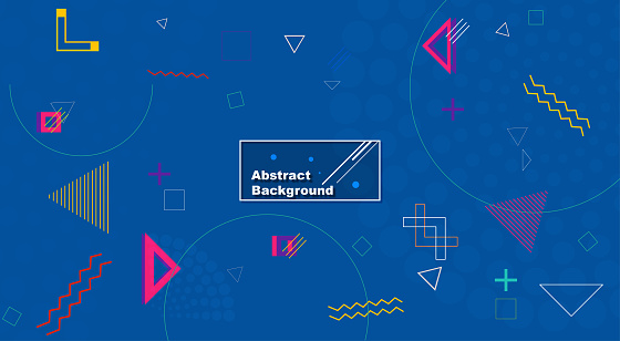 Abstract geometric background. The poster with the flat figures