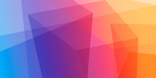 추상적임 기하 배경기술 - 다중 색상 stock illustrations