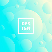 Modern and trendy abstract background with gradient color circles. This illustration can be used for your design, with space for your text (colors used: White, Yellow, Beige, Turquoise, Green, Blue). Vector Illustration (EPS10, well layered and grouped), format (1:1). Easy to edit, manipulate, resize or colorize.