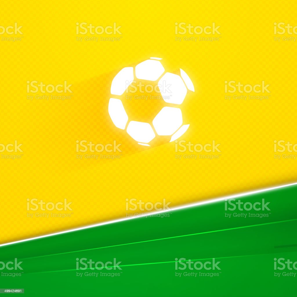 Abstract geometric background with Brazil flag colors. Vector illustration vector art illustration