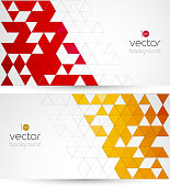 Abstract technology background with color triangle. Vector illustration.