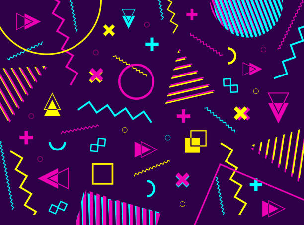 Abstract geometric background with colorful geometric shapes. Vector geometric grahic. vector art illustration