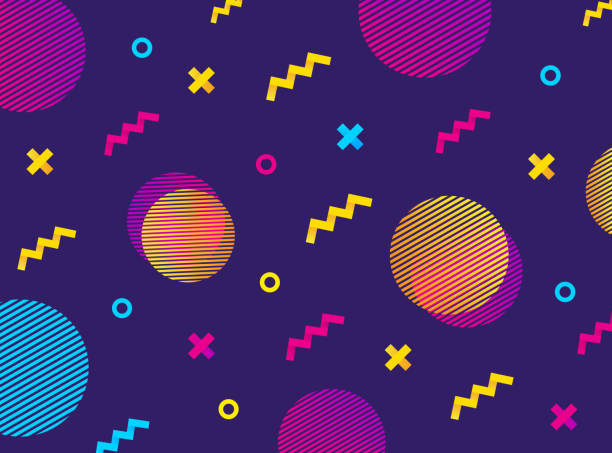 abstract geometric background with colorful geometric shapes. vector geometric grahic. - насыщенный цвет stock illustrations