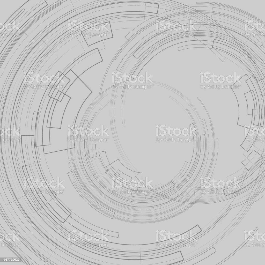 Ilustración de Fondo Abstracto Geométrico Con Círculos Concéntricos ...