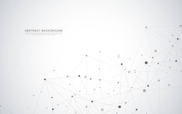 abstract geometric background with connecting dots and lines - acute angle stock illustrations