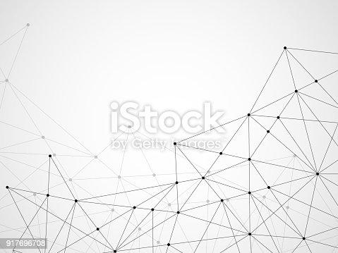 연결 점 들과 라인 추상적인 기하학적 배경 가리키기에 대한 스톡 벡터 아트 및 기타 이미지