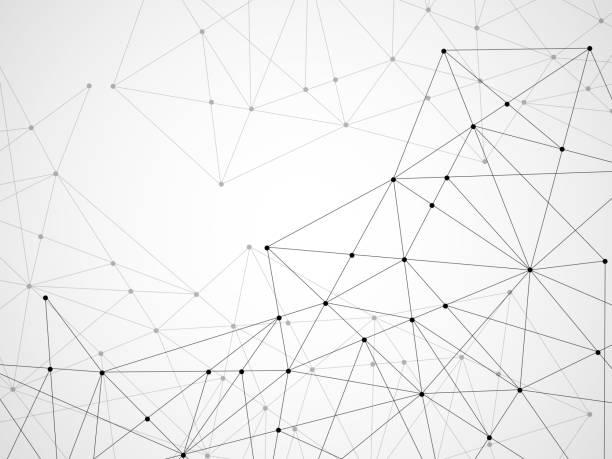 연결 점 들과 라인 추상적인 기하학적 배경 - 기하 stock illustrations