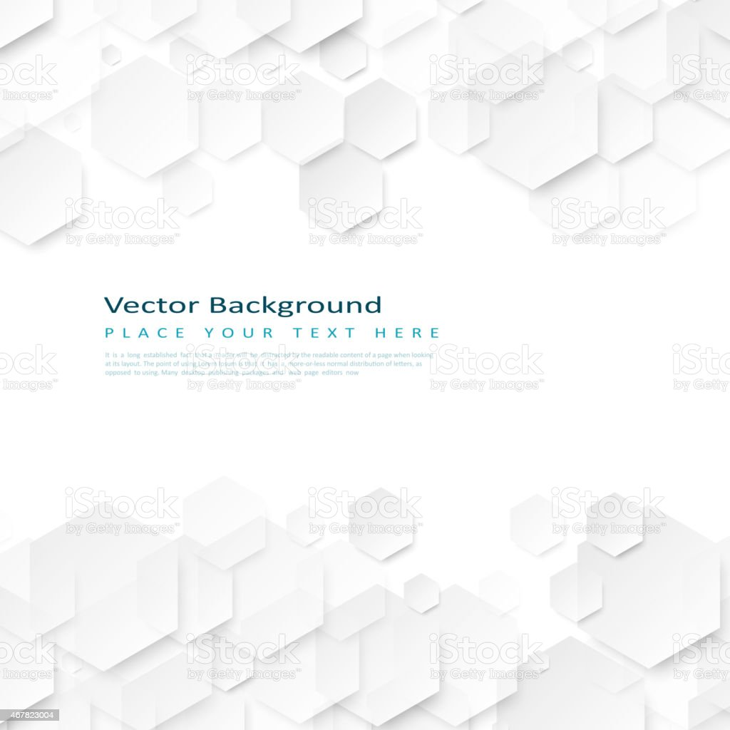 Abstract geometric background with hexagons vector art illustration