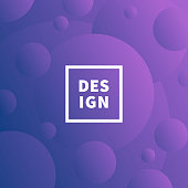 Modern and trendy abstract background with gradient color circles. This illustration can be used for your design, with space for your text (colors used: Pink, Purple, Blue). Vector Illustration (EPS10, well layered and grouped), format (1:1). Easy to edit, manipulate, resize or colorize.