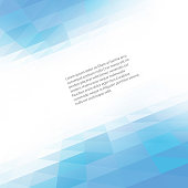 Abstract geometric background with transparent triangles. Vector illustration. Brochure design Blue triangle