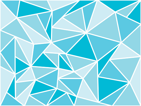 abstract geometric background with triangles, blue horizontal wallpaper, low poly style