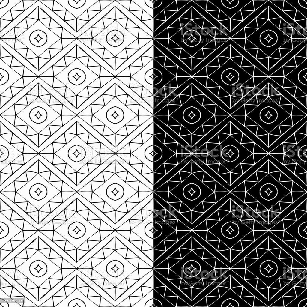 Ilustración de Fondos Geométricos Abstractos Blanco Y Negro Sin ...