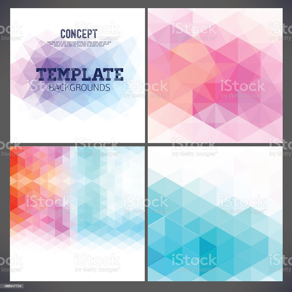 Abstract geometric backgrounds of a triangle. vector art illustration