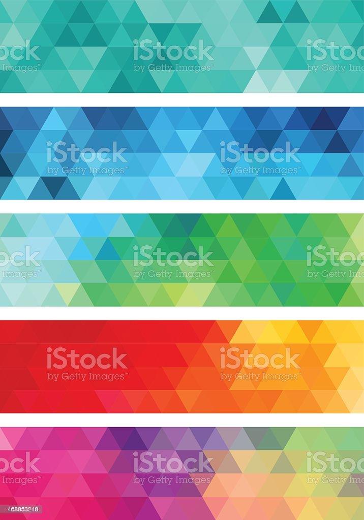 abstract geometric banner, vector set vector art illustration