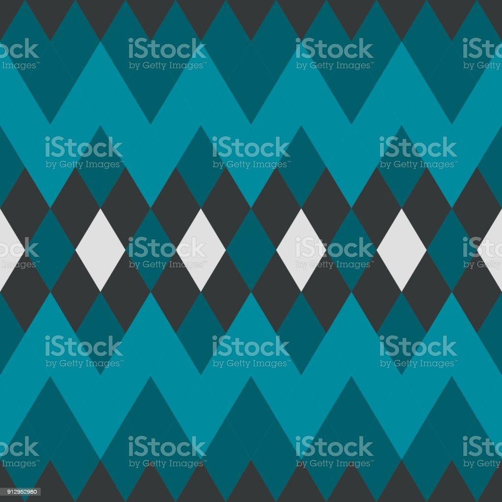 Abstract Geometric Blue Diamond Seamless Pattern Wallpaper Texture