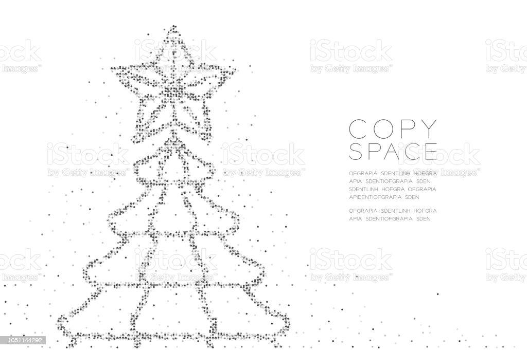 Ilustración de Abstracta Geométrica Círculo Punto Pixel Patrón De ...