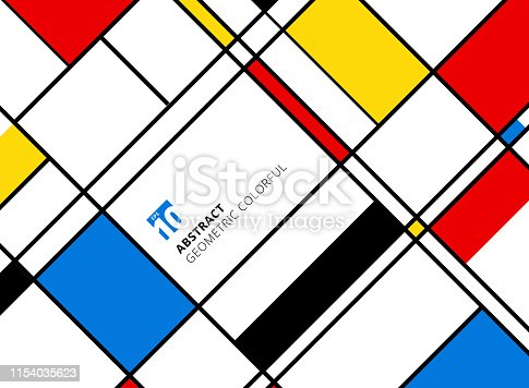 Abstract geometric colorful pattern for continuous replicate with lines on white background. Vector illustration