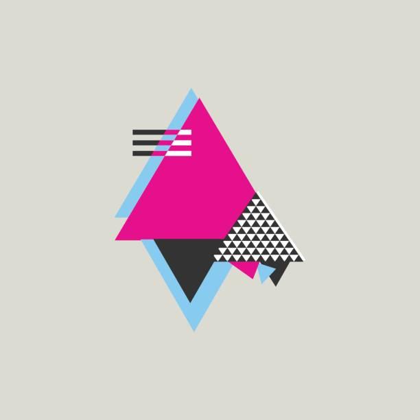 abstrakte geometrische komposition, die im stil mit suprematismus oder moderne street-elementen. - bauhaus stock-grafiken, -clipart, -cartoons und -symbole
