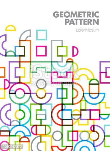 Abstract Geometric Cover Design