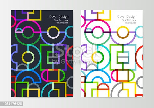Abstract Geometric Cover Design Template for corporate report or brochure