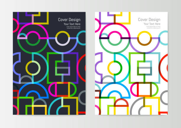 Abstrakte geometrische Cover-Design – Vektorgrafik
