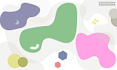 Abstract geometric creative with pastel multicolors background