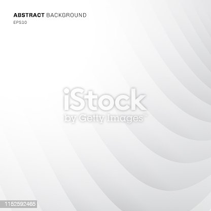 istock Abstract geometric curve diagonal pattern white and gray color background and texture. 1152592465