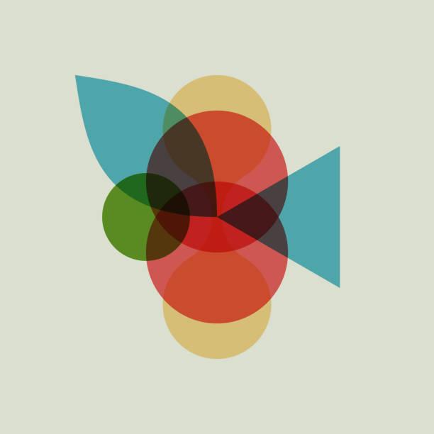 abstrakte geometrische muster. dies gilt für banner, plakate, poster, flyer. vektor-illustration aus den verschiedenen überlappenden elementen. - bauhaus stock-grafiken, -clipart, -cartoons und -symbole