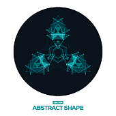 Abstract geometric design of space