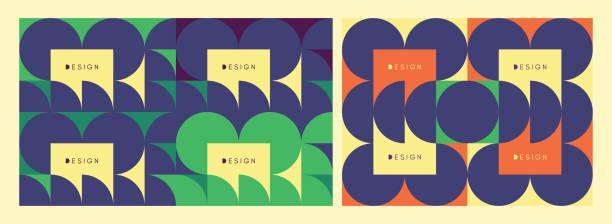 abstrakte geometrische muster. vektor-illustration. muster kann als vorlage für die broschüre, geschäftsbericht, magazin, plakat, präsentation, flyer und banner verwendet werden. - bauhaus stock-grafiken, -clipart, -cartoons und -symbole