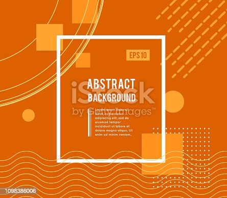 Abstract geometric design with different shapes and lines. Vector illustration is suitable for decorating booklets, flyers, posters and other. Minimal design style