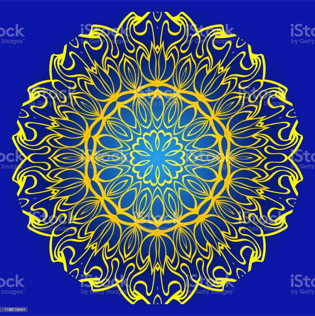 Abstract Geometric Flower Stylish Fashion Design Background
