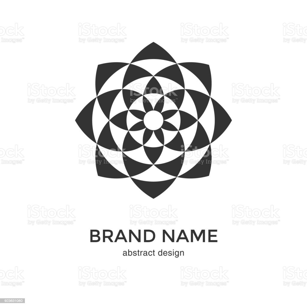 Abstract Geometric Flower Symbol Stock Vector Art More Images Of
