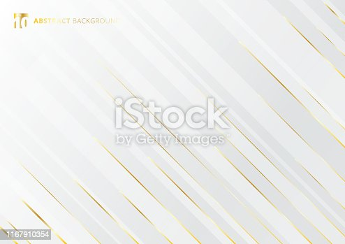 Abstract geometric gold gradient bright color shiny motion diagonally white background luxury style. Template for brochure, print, ad, magazine, poster, website, magazine, leaflet, annual report. Vector corporate design