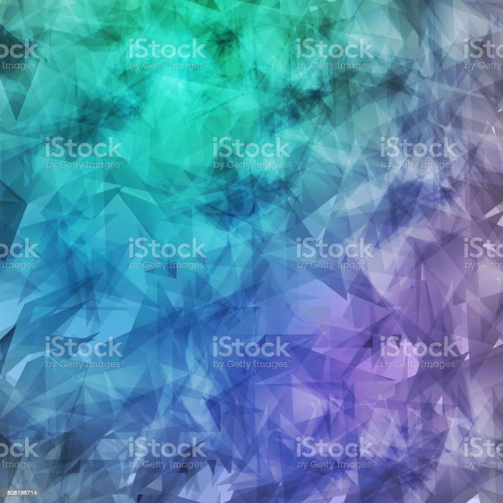 Abstract geometric grunge background chaotic pattern elements, triangles. neon texture, Wallpaper, Vector vector art illustration