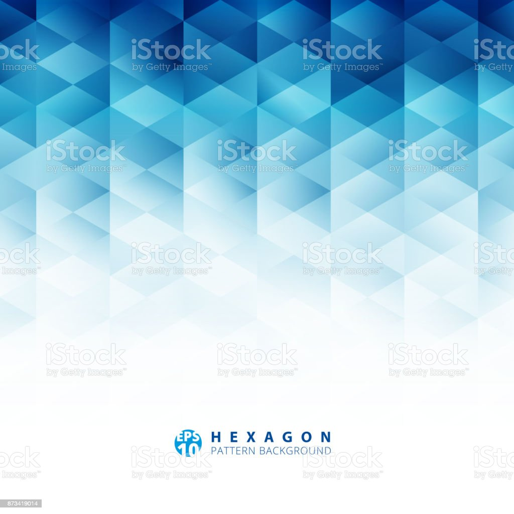 Abstract geometric hexagon pattern blue background, Creative design templates