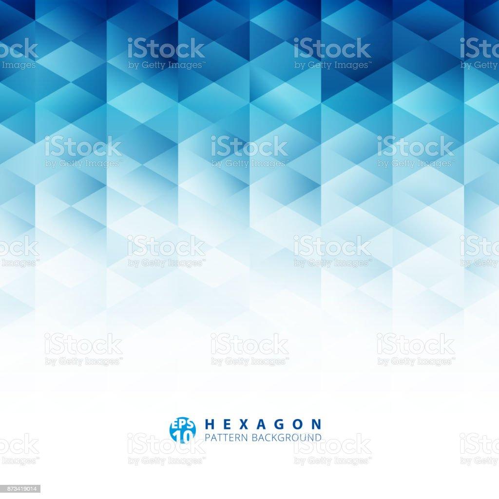 抽象的な幾何学的な六角形パターン青背景、創造的なデザイン テンプレート ベクターアートイラスト