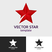 Abstract geometric icon. Colorful star logo. Vector sign, isolated logo with gradients, illustration.